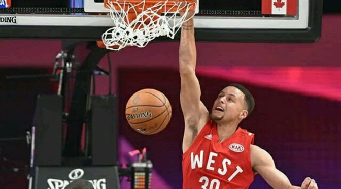 Steph Curry Drills Half Court Shot In ASG; Cameras Missed It