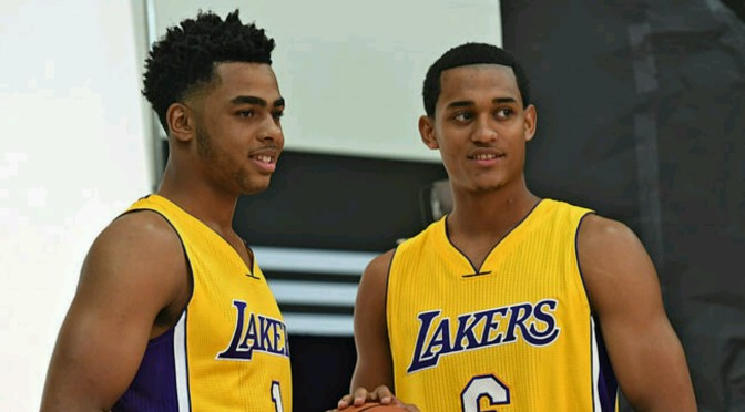 Jordan Clarkson Reminds D'Angelo Russell Not Say Anything Crazy About Role With Lakers