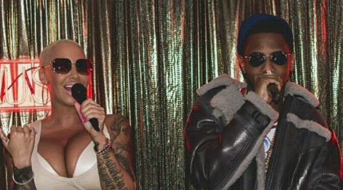 Amber Rose & Fabolous Lip Sync Battle At Drake's Mansion Party
