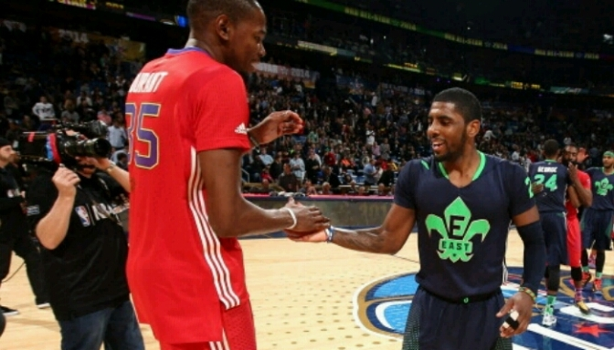 Kevin Durant & Kyrie Irving Battle To See Who Can Make The Most 3s
