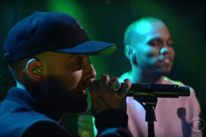 "Mac Miller & Anderson .Paak Perform ""Dang!"" On The Late Show"