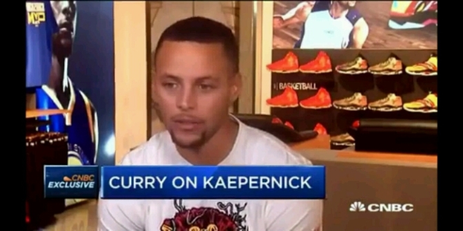 Steph Curry Applauds Colin Kaepernick Stand Against Injustice