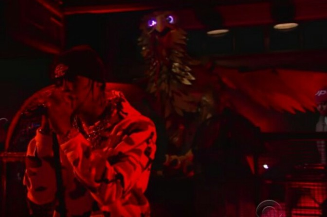 "Travi$ Scott Performs ""Sweet Sweet"" & ""Goosebumps"" On The Late Show"