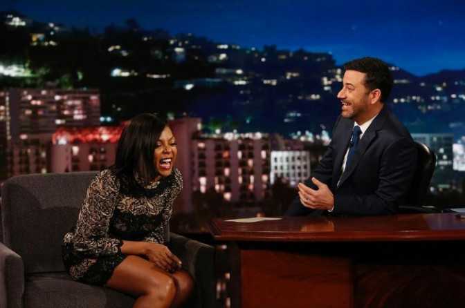 "Taraji P. Henson Talks Needing Her Own Island On ""Kimmel"""
