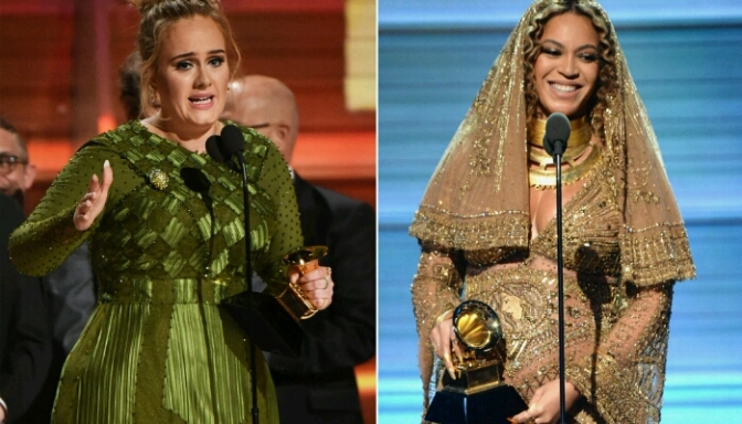 "Adele Believes Beyonce Deserved ""AOTY"" at the GRAMMYs"