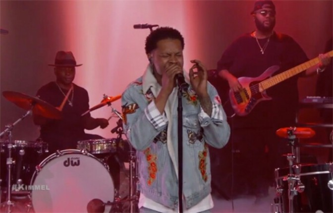 "BJ the Chicago Kid Performs On ""Kimmel"""