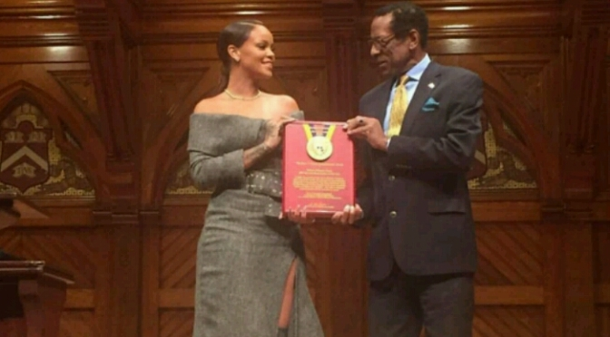 Rihanna Honored with Humanitarian Award From Harvard University