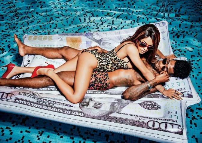BTS of Iman Shumpert & Teyana Taylor's GQ Shoot