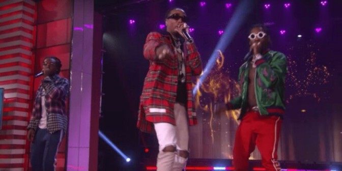 """Migos Perform """"Bad & Bougee"""" on The Ellen Show"""