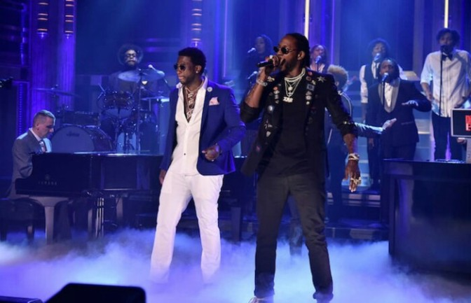 "2 Chainz & Gucci Mane Perform ""Good Drank"" On The Tonight Show"