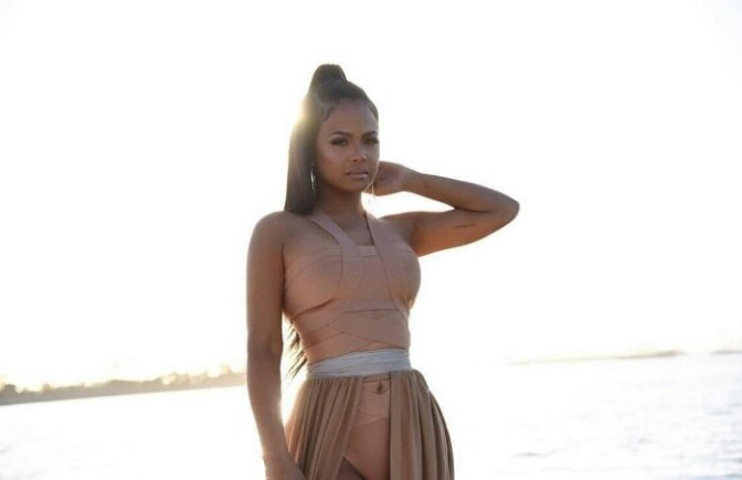 "Christina Milian on Set Of Eric Bellinger's ""Make You Mine"" Video"