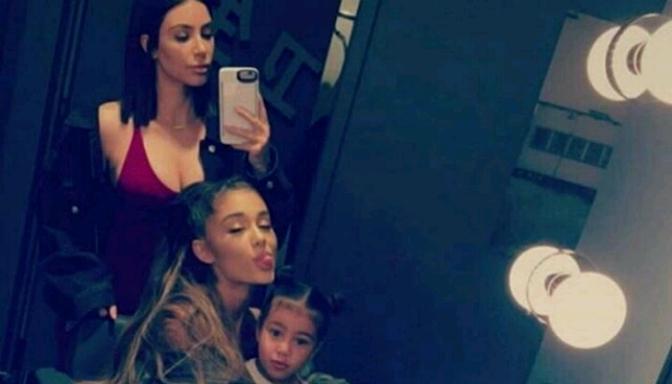 "Kim Kardashian & North West Enjoy Ariana Grande's ""Dangerous Woman"" Tour"