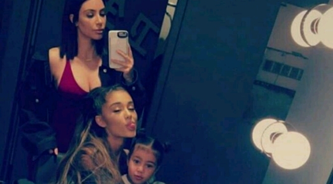 "Kim Kardashian & North West Enjoy Ariana Grande's ""Dangerous Woman"" Tour"