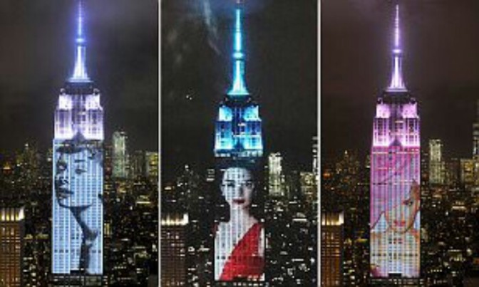 Harper's BAZAAR Celebrates 150th Anniversary By Projecting Famous Covers On Empire State Building