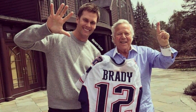 Tom Brady Receives His Super Bowl LI Jersey