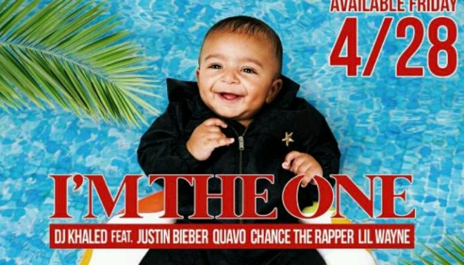 "(Artwork) DJ Khaled Feat. Justin Bieber, Quavo, Chance the Rapper & Lil Wayne ""I'm The One"""