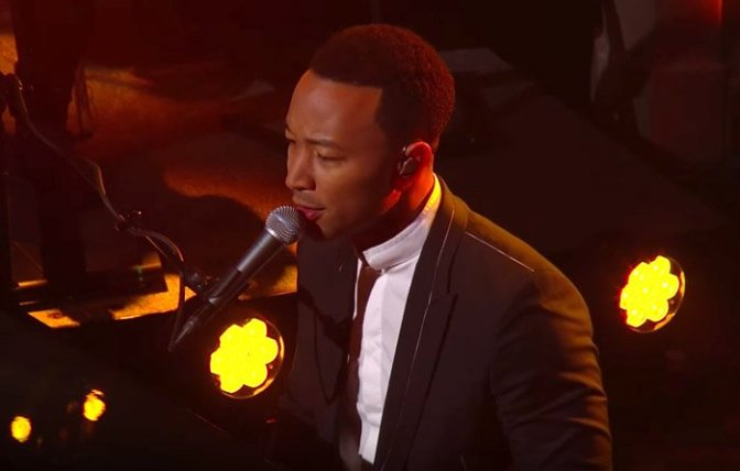 John Legend Performs On The Late Show