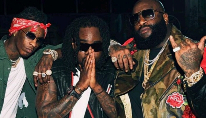 """Rick Ross Performs """"Trap Trap Trap"""" with Young Thug & Wale On The Tonight Show"""