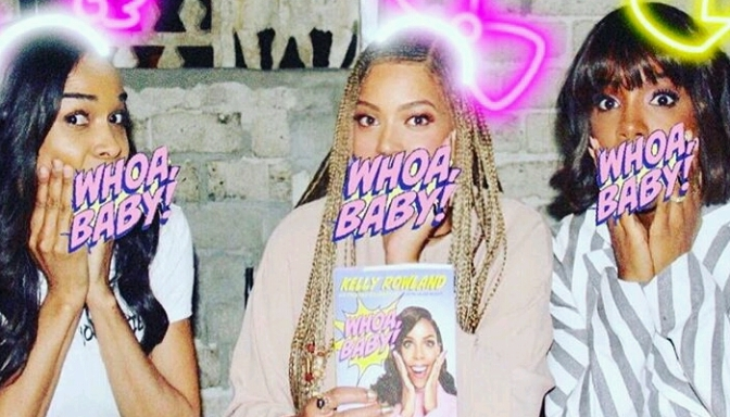 """Beyonce & Michelle Williams Attend Kelly Rowland's """"Whoa Baby!"""" Book Launch"""