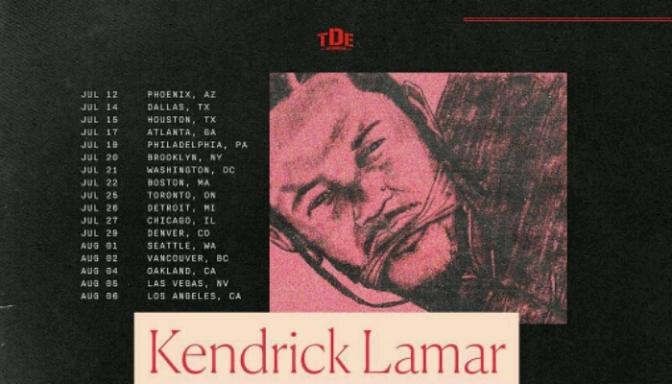 """Kendrick Lamar Announces """"The DAMN. Tour"""" with Travi$ Scott & D.R.A.M."""
