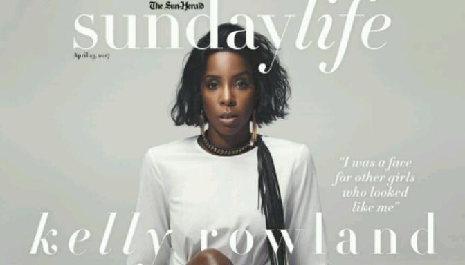 Kelly Rowland Covers Sunday Life Mag