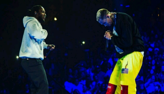 Chris Brown Brought Out Kendrick Lamar In Anaheim