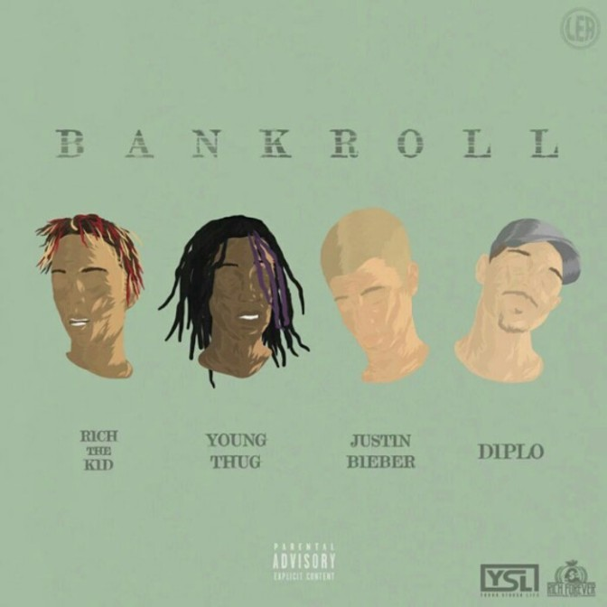 "Diplo Feat. Justin Bieber, Young Thug & Rich the Kid ""Bank Roll"""