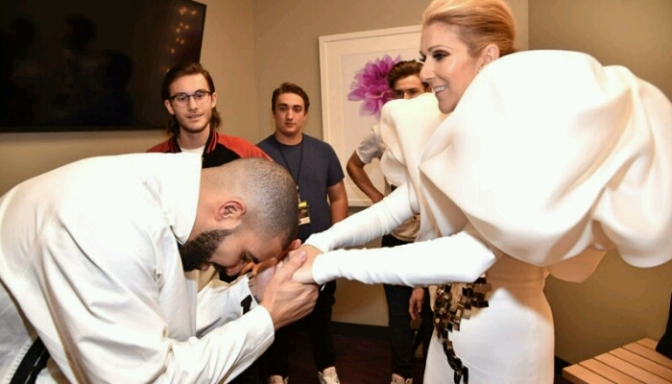 Drake Tells Celine Dion He's Going to Tat Her On Him