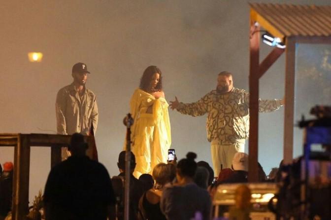 DJ Khaled, Rihanna & Bryson Tiller Shoot Video in Miami
