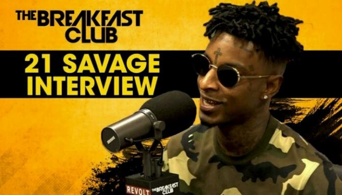 21 Savage On The Breakfast Club