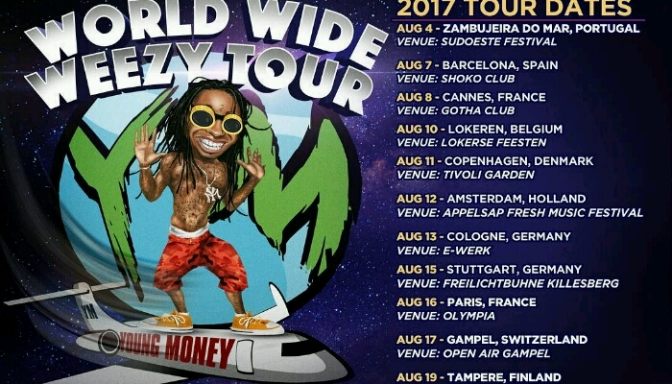 "Lil Wayne Announces the ""World Wide Weezy Tour"""