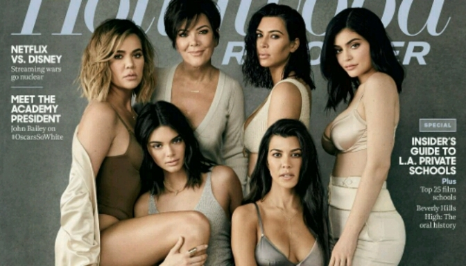 The Kardashian-Jenner Clan Cover The Hollywood Reporter
