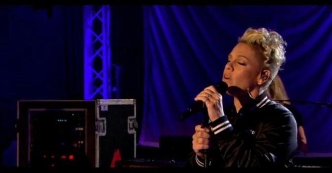 """P!nk Covers Sam Smith's """"Stay With Me"""""""