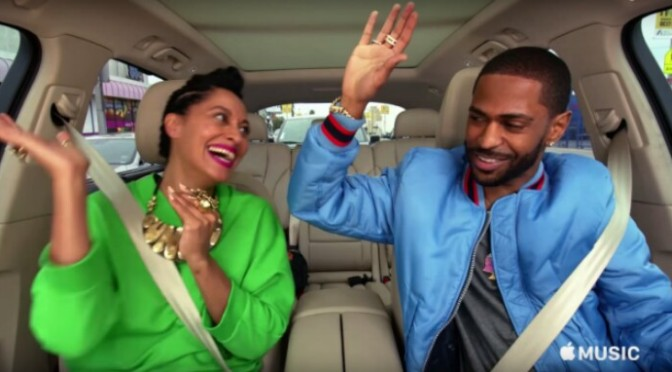 "Big Sean & Tracee Ellis Ross Remix ""Bounce Back"" For Carpool Karaoke"