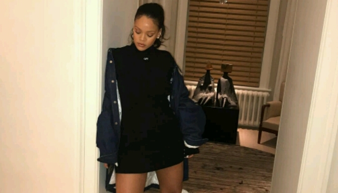 "Rihanna Shows Off ""Fenty University"" Suede Slides"