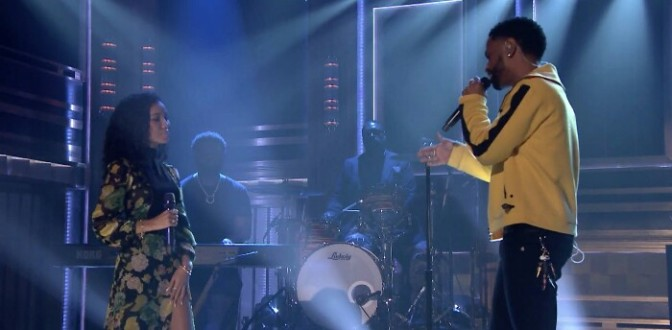 "Jhené Aiko & Big Sean Perform ""Moments"" On The Tonight Show"