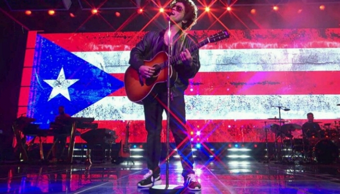 "Bruno Mars Performs Spanish Version of ""Just The Way You Are"""