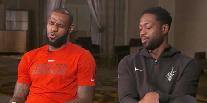 LeBron James & Dwyane Wade Talk 14-Year Friendship, Draft Camp, Playoff Battles & More