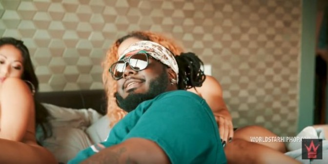 "(Video) T-Pain Feat. Blac Youngsta ""Goal Line"""