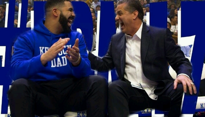 Drake Pops Out For Kentucky's Big Blue Madness