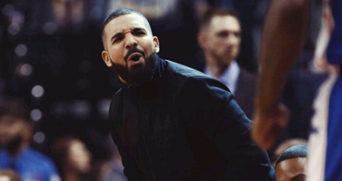 Drake Helps Commentate Raptor/Sixers Game