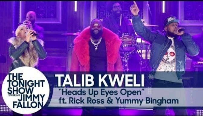"""Talib Kweli, Rick Ross & Yummy Bingham Perform On """"The Tonight Show"""""""
