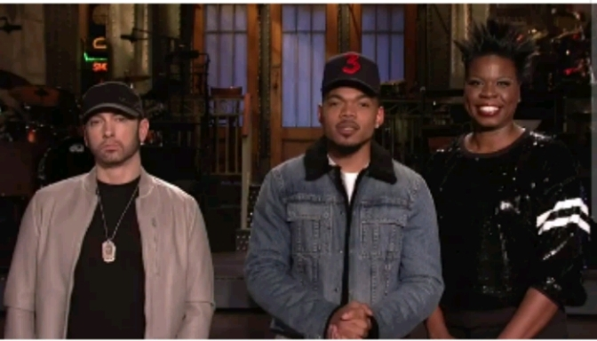Chance the Rapper & Eminem Star In SNL Promo