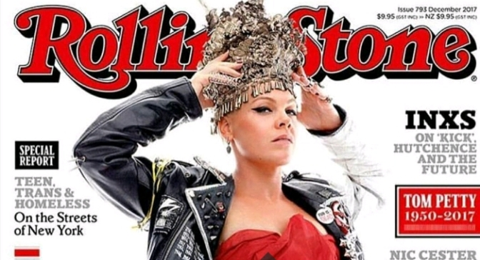 P!nk Covers Rolling Stone