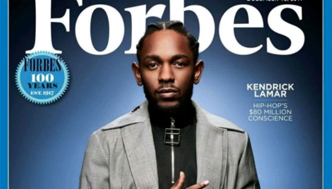 """Kendrick Lamar Covers Forbes' """"30 Under 30"""" Issue"""