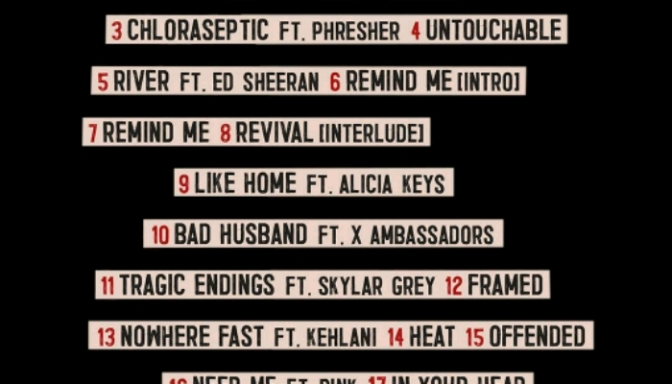 """Eminem Reveals Tracklist For """"Revival"""""""