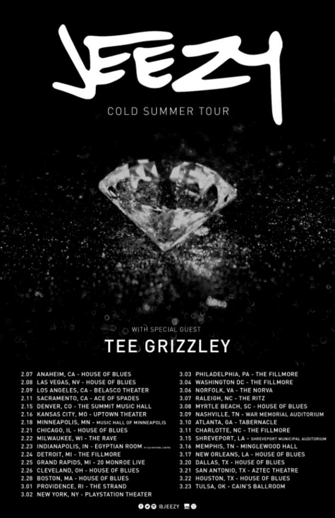 "Jeezy Announces ""Cold Summer"" Tour with Tee Grizzley"