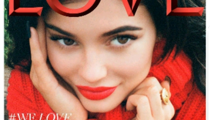 "Kylie Jenner Covers ""LOVE Mag"" Shot By Kendall Jenner"