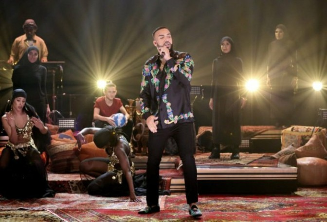 """French Montana Performs """"Famous"""" on The Tonight Show"""