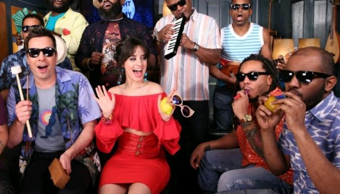 "Jimmy Fallon, Camila Cabello & The Roots Sing ""Havana"" Using Classroom Instruments"